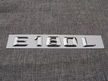ABS Plastic Car Trunk Rear Letters Badge Emblem Decal Sticker for Mercedes Benz E Class E180L