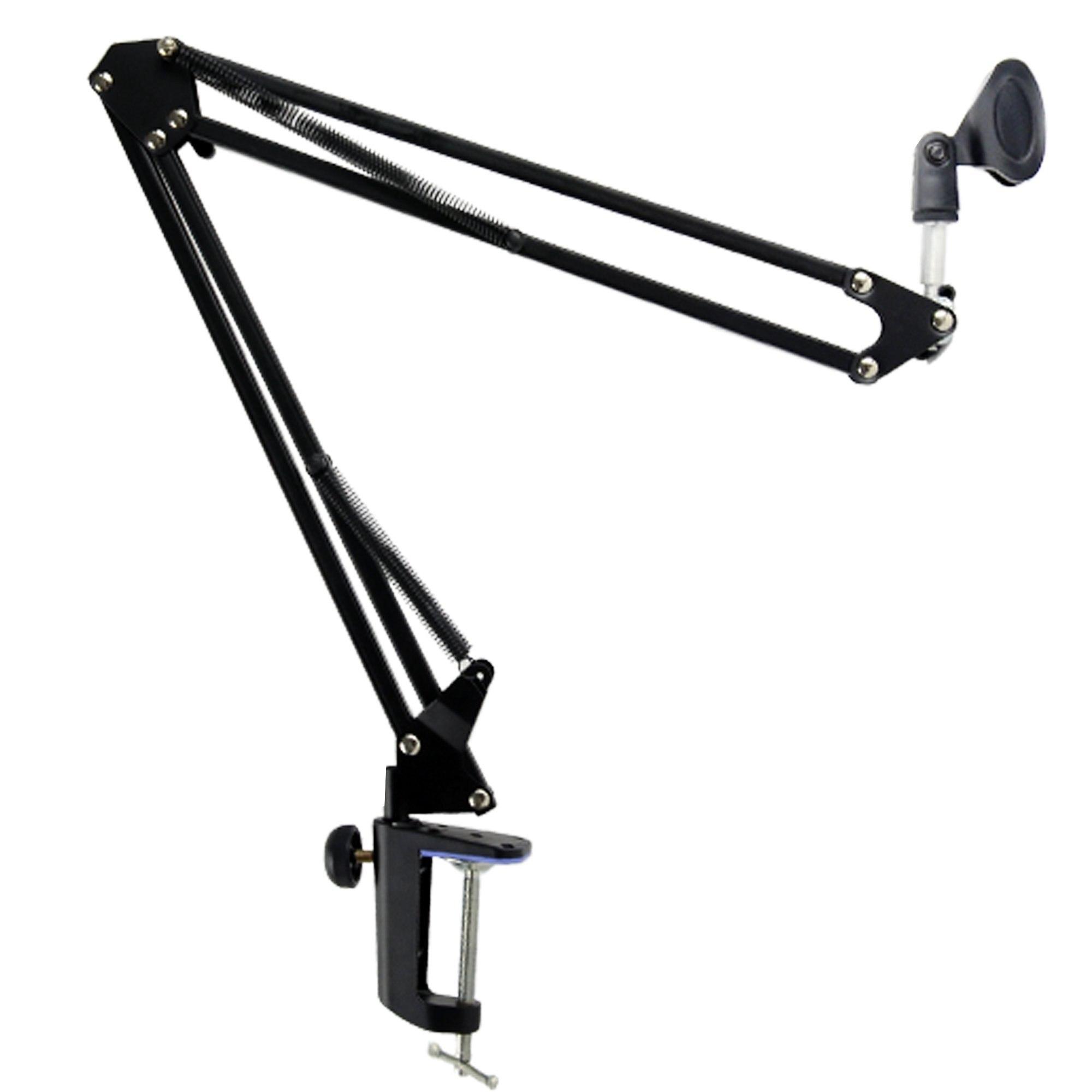Allungabile Microfono di Registrazione Supporto di Sospensione Boom Scissor Braccio Del Supporto Del Basamento con Microfono Da Tavolo di Clip Di Montaggio Morsetto