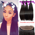 Peerless Virgin Hair With Closure Straight Virgin Hair With Frontal Human Hair Bundles With Frontal Lace Frontal With Bundles
