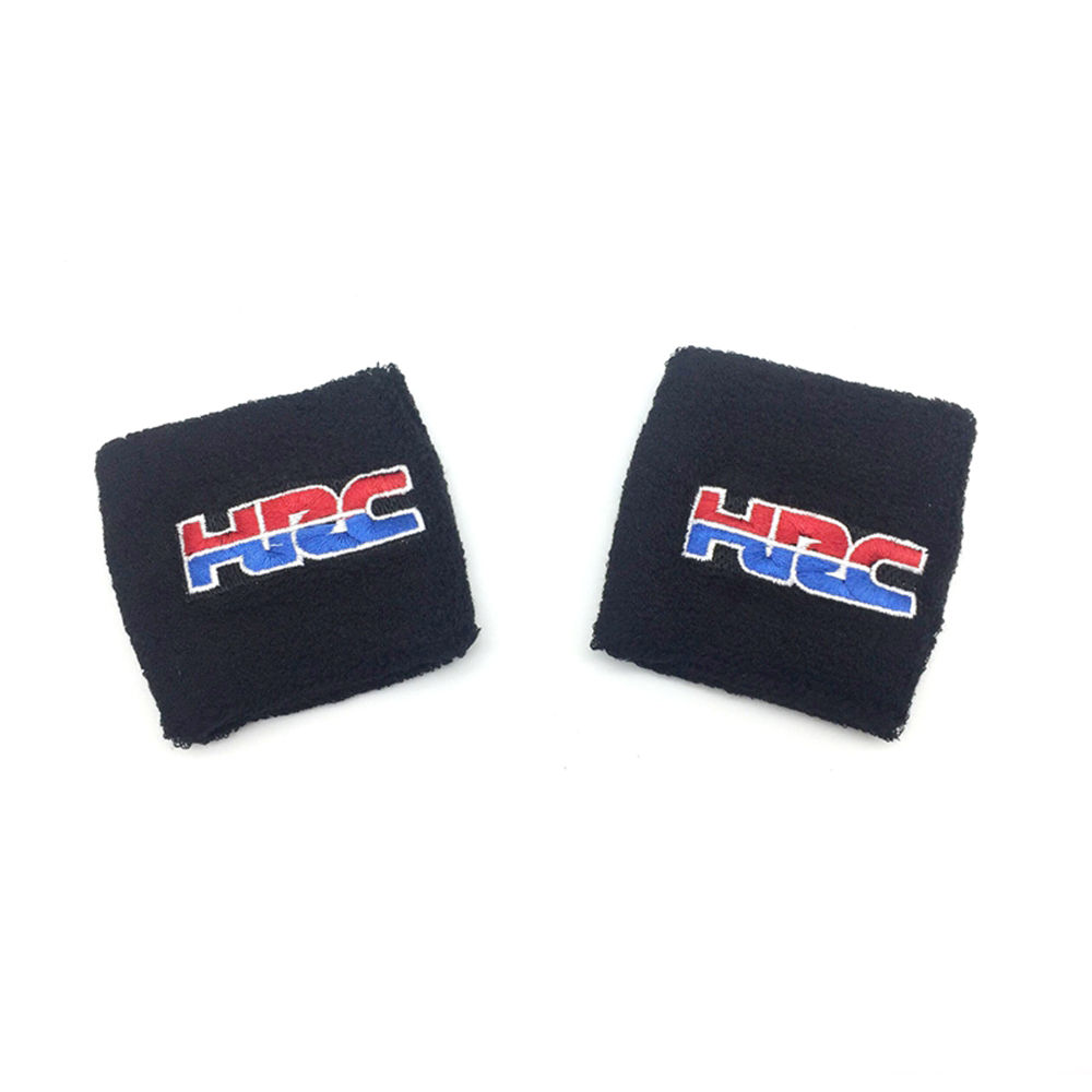 Motorcycle Universal Large Black Brake Clutch Reservoir Sock Cover For Honda HRC FLUID TANK OIL CUP