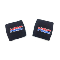 Motorcycle Universal Large Black Brake Clutch Reservoir Sock Cover For Honda HRC FLUID TANK OIL CUP