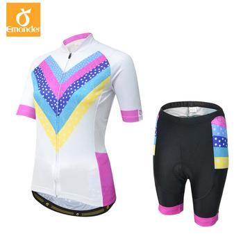 EMONDER Ciclismo Jersey Define As Mulheres Verão Quick-Seco MTB Mountian Bicicleta Ciclismo Roupas Respirável Roupas Bicicleta Ropa ciclismo