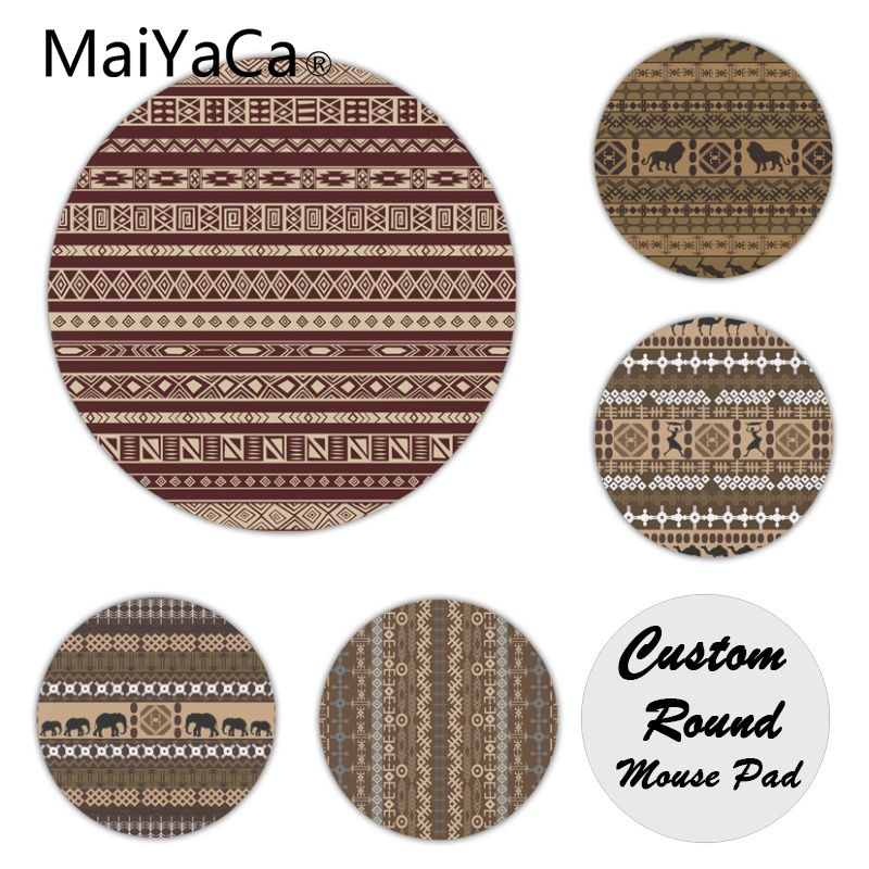 MaiYaCa My Favorite Africa Aztec Ethic Pattern Silicone Pad to Mouse Game Customized MousePads Computer Laptop Anime Mouse Mat