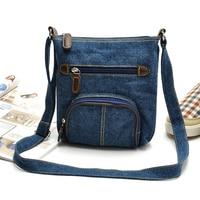 The new classical European and American style casual bags before blue denim bag shoulder diagonal women handbags