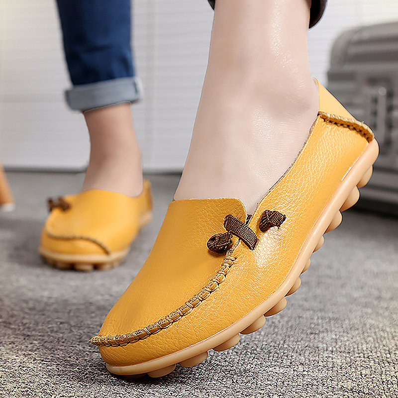 2017 spring shoes woman big size 34-44 slip-on loafers party dress shoes genuine leather adult flats female shoes whensinger 2017 woman shoes female genuine leather flats slip on summer fashion design f927
