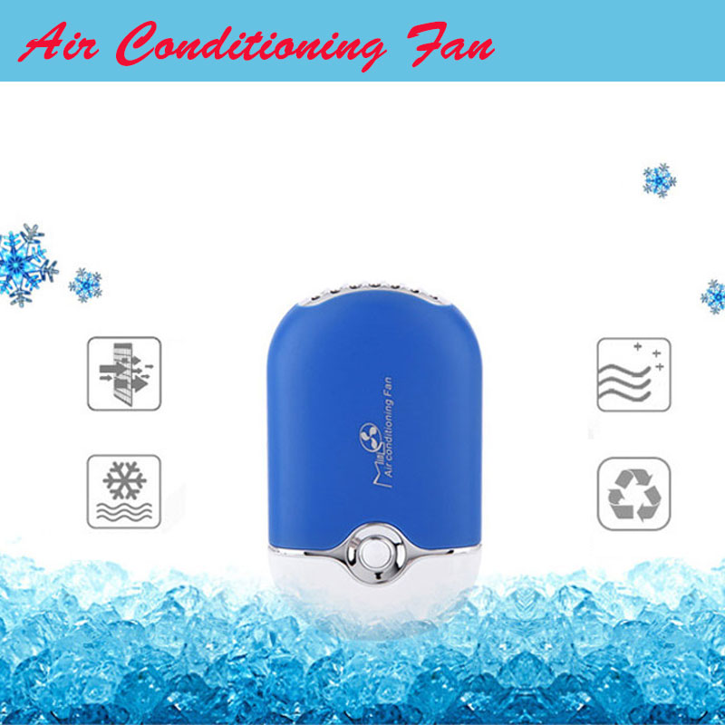 Summer Office Mini Pocket font b USB b font Fan Air Conditioning Fan Rechargeable Portable font