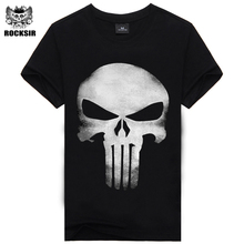 3D T Shirt Men Plus Size Cotton Tops Tee Skull Printed Short Sleeve fitness Cotton T