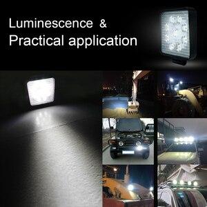 Image 5 - Barra de luces LED de trabajo para Jeep, ATV, UAZ, SUV, 4WD, 4x4, camión, Tractor, todoterreno, 27W, 42W, 48W, haz de Luz brillante, 12v, 24v