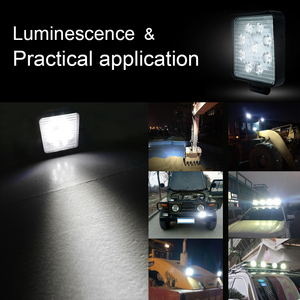 Image 5 - 作業 Led ライトバー 27 ワット 42 ワット 48 ワット車のライト高輝度ビーム 12v 24 用 Led ジープ ATV UAZ SUV 4WD 4 × 4 トラックトラクターオフロードスポットライト