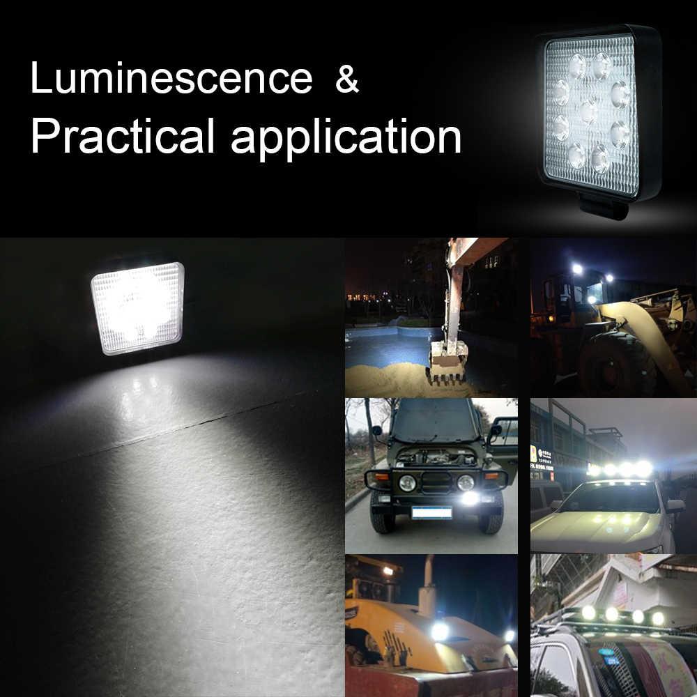 O trabalho conduziu o feixe luminoso 12v 24v da luz do carro da barra clara 27 w 42 w 48 w conduziu para a luz do ponto fora de estrada do trator do caminhão do jipe atv uaz suv 4wd 4x4