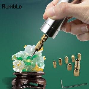 Image 2 - マイクロ電気 DC 5 ボルト USB ハンドドリル木材プラスチック穴掘削ツール木工彫刻 DIY モデルのための 0.5  3.0 ミリメートルドリルビット