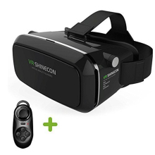 Virtual Reality Headset Vr Shinecon 3d Movie Game Glasses VR Box Casque for 3.5-6.0 Inch Smartphone + VR Box 3.0 Remote Gamepad