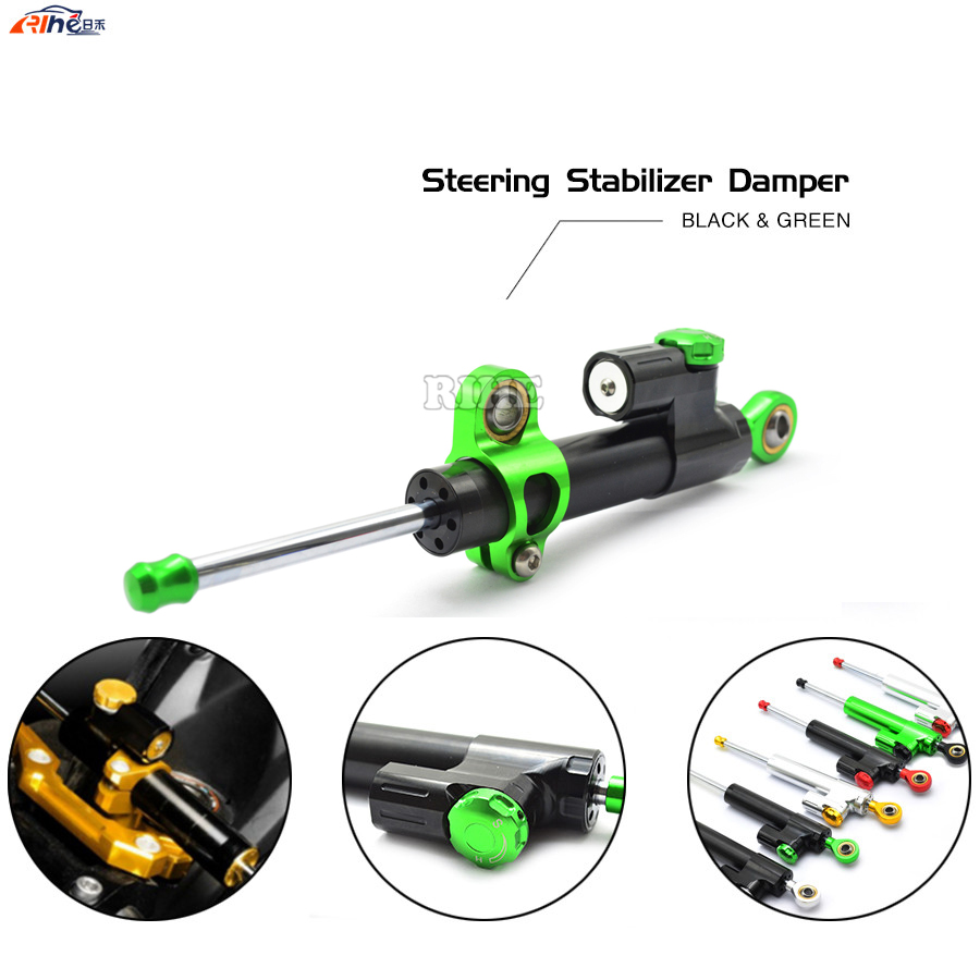 Universal Motorcycle CNC Damper Steering Stabilizer Linear Reversed Safety Control for Ducati monster 1100 620 696 796 yamaha r1 for ducati monster 696 2008 2014 black motorcycle reversed safety adjustable steering damper stabilizer with mount bracket