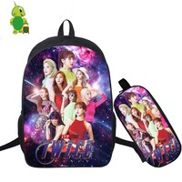 Mochila Kpop Twice Fancy You Backpack 2 Pcs/Set School Bags for Teenage Boys Girls Pencil Case Laptop Backpack Travel Rucksack