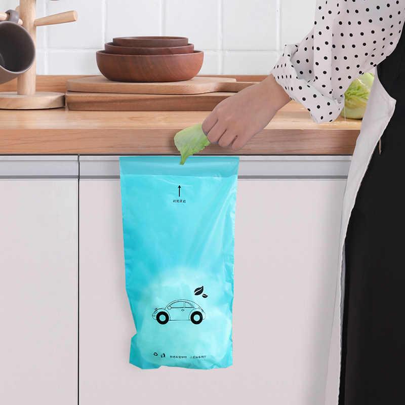 5 pcs lata de lixo saco de lixo Biodegradável Descartável Auto-Adesivo À Prova D' Água titular cozinha lixeira Escritório organizadores Cozinha