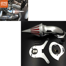 For Honda Shadow Aero 750 VT750 All Years Spike Cone Motorcycle Air Cleaner Intake Filters Kit Accessories Black Chrome