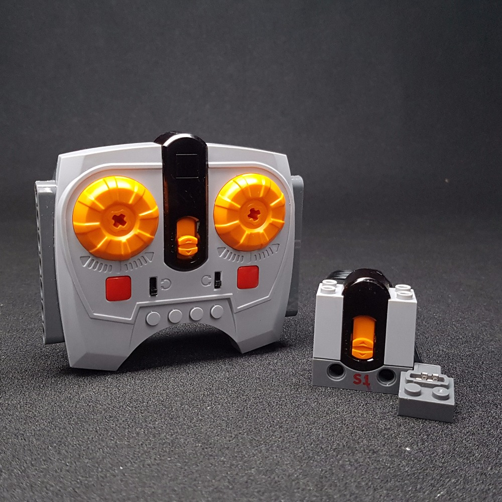 8879 8884 Variable Speed Remote Control Power Machinery Wireless Remote Receiver 2 4G Building Blocks Technic