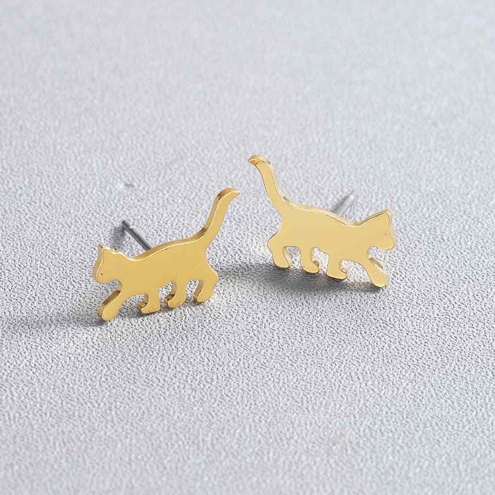 Chandler เล็กแมวแมวสัตว์ Studs ต่างหูสำหรับเด็กหญิงวัยรุ่นเด็กนักเรียนเครื่องประดับ Kitty สัตว์เลี้ยงเครื่องประดับ