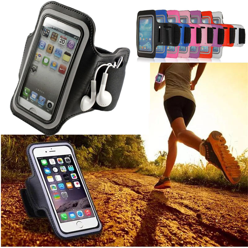 Universal Running Sport Armband for iPhone 6s Plus 7 7 Plus 8 X Samsung S8 Plus Xiaomi Huawei Phone Armband Phone Pouch Bag ><
