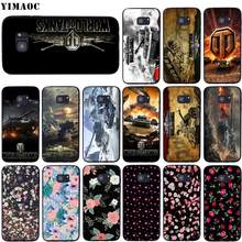 Yimaoc Wereld Van Tanks Wot Soft Silicone Case Voor Samsung Galaxy S6 S7 Rand S8 S9 Plus A3 A5 A6 note 8 9(China)