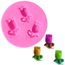 Food Grade Rose shape Cake Design Silicone Mold Lollipop Soap Mould Baking Tools For Cakes DIY