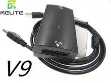 Jlink v8 jlink v9 jlink v10 emulador, braço stm32 downloader, jtag/swd queimador