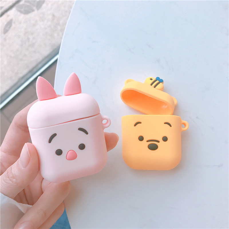 Bluetooth Earphone Case for Airpods cute Accessories Protective Cover Bag Cartoon Silicone luxury soft for apple airpods DIY