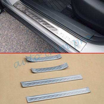 Stainless Steel Sisi Pintu Sill Edge Lecet Lecet Plate Cover Melindungi Cover Trim Cocok untuk Mazda CX3 CX-3 2016 2017 2018 2019 Aksesoris