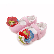 Delebao Prewalkers Colorful flower Baby Shoes Canvas Soft Sole Princess