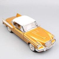 1/18 весы Роскошные 1958 Винтаж Классический supercharged Studebaker Golden Hawk купе Ван литья под давлением металлические модели автомобилей игрушечные лоша