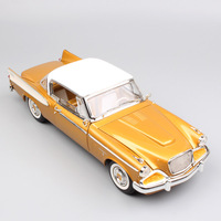 1/18 Scale luxury 1958 vintage classic The supercharged Studebaker Golden Hawk Coupe Van diecast metal models cars toys gold boy