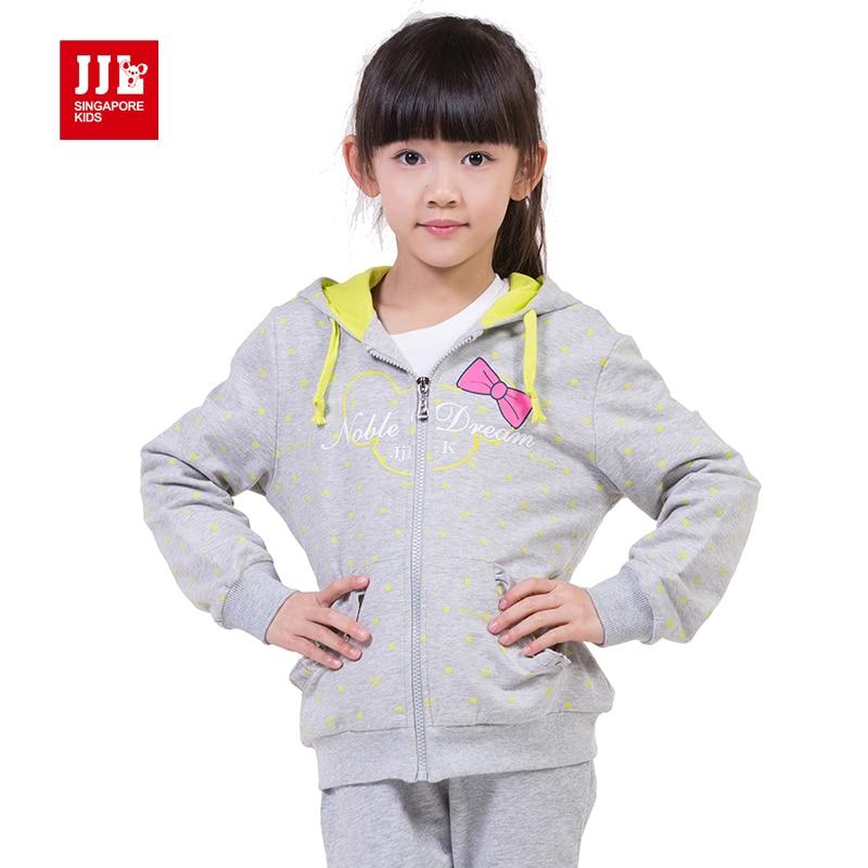 girls sweatshirt kids trench coat 2015 children jacket girl hooded coat size 6 15 years brand
