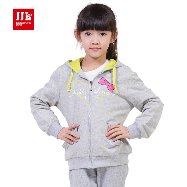 girls sweatshirt kids trench coat 2015 children jacket girl hooded coat size 6-15 years brand kids clothes