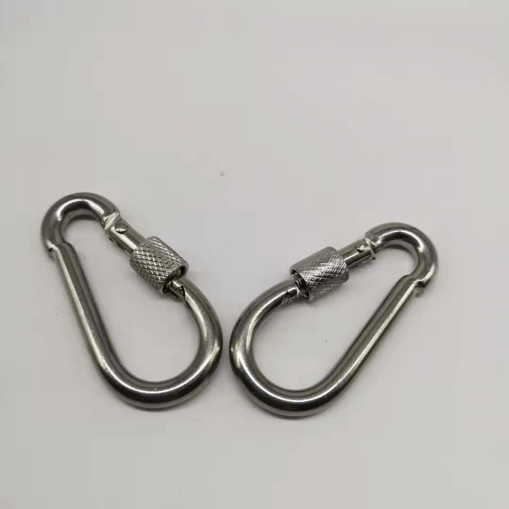10pcs M6 Metal Screw Lock Carabiner Hook Snap Clip D-Ring Outdoor Snap