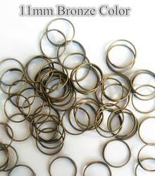 10000 шт./лот 11 мм бронза металл Кольца хрустальный шарик Инструменты для наращивания волос нить гирлянды DIY Инструменты для наращивания