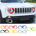 Factory Price Angry Birds Head Light Cover ABS for Jeep Renegade 2015 up Car Headlight Covers 7 Colors
