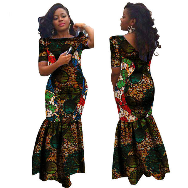 020a63af3017b African Lady Clothes Slim Cut Sexy Ankara Dresses Batik Plus Size Ankara  Length African Dresses