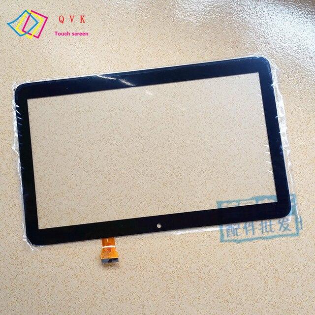 أسود 10.1 بوصة تعمل باللمس ل RoverPad الهواء Q10 3G اللوحي A1031 لوحة مرقمة الزجاج الاستشعار استبدال