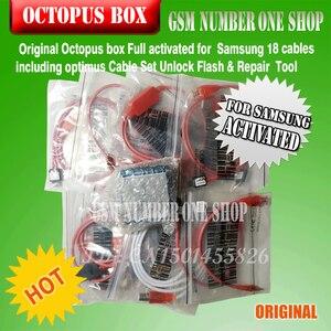 Image 3 - 100% Original nouvelle boîte de poulpe pour Samsung imei réparation et déverrouillage avec 18 câbles