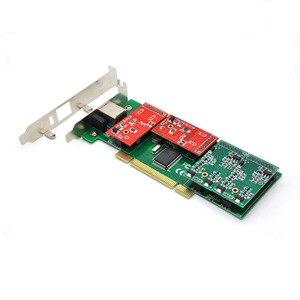 Image 3 - Neue Großhandel TDM410P 2U Asterisk PCI 4 FXS/FXO Analog Stimme Telefonie Karte Trixbox/Elastix/Freeswitch IP PBX