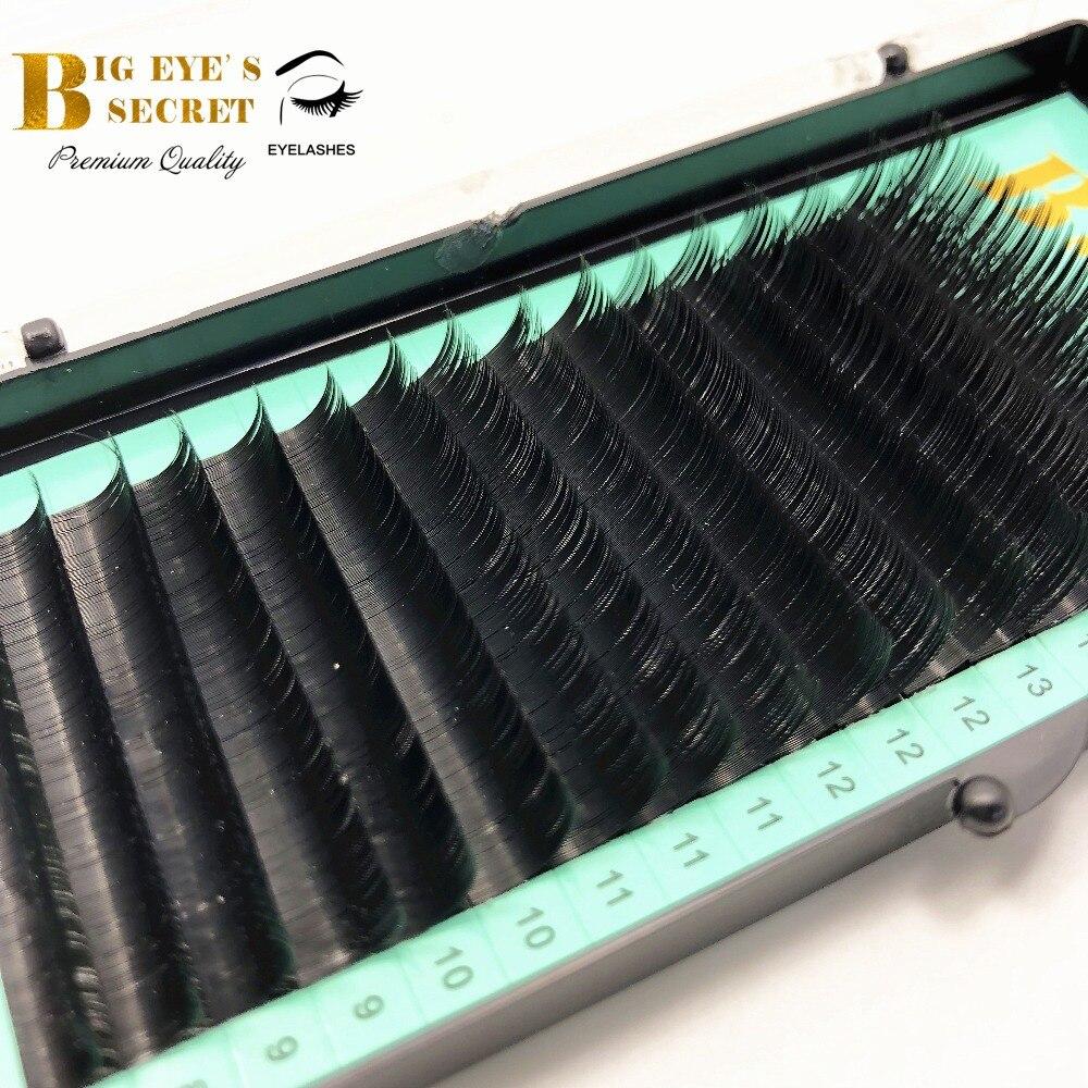 All Size Individual Eyelashes Extension J/b/c/d Curl 8-15mm Mixed Black Fake False Silk Eyelashes Big Eye's Secret Free Shipping Terrific Value