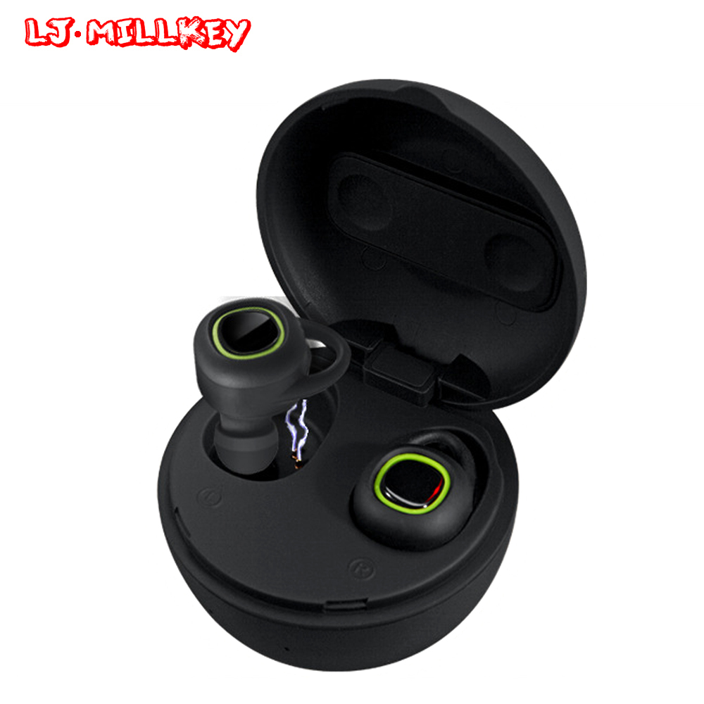 TWS Bluetooth Earphone Earbuds Touch Control Hifi Stereo Wireless Microphone for Phone With Charging Box Mini LJ-MILLKEY YZ108 dacom bluetooth earphone mini wireless stereo headset tws ture wireless earbuds charging box for iphone xiaomi android phone