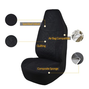 Image 3 - Speckled Velvet Fabric Car Seat Cover Universal Fit Most Vehicles Seats Interior Accessories Seat Covers