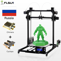 Ship From Russian Flsun3D 3D Printer Auto leveling i3 3D Printer Kit Heated Bed One Rolls Filament SD Card Gift no taxes