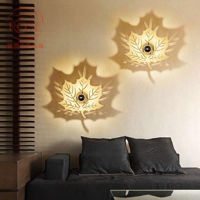 Laub LED wandleuchten kreative schlafzimmer gang wandleuchte ...