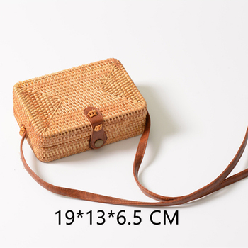Lovevook round straw bags for women 2019 summer woven beach bag handmade rattan and bamboo bag crossbody shoulder bag for ladies 5