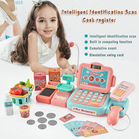 Intelligent Identification Scan Cash Register Kids Pretend Play Money Supermarket Cashier Toy Girls Games Christmas Gifts