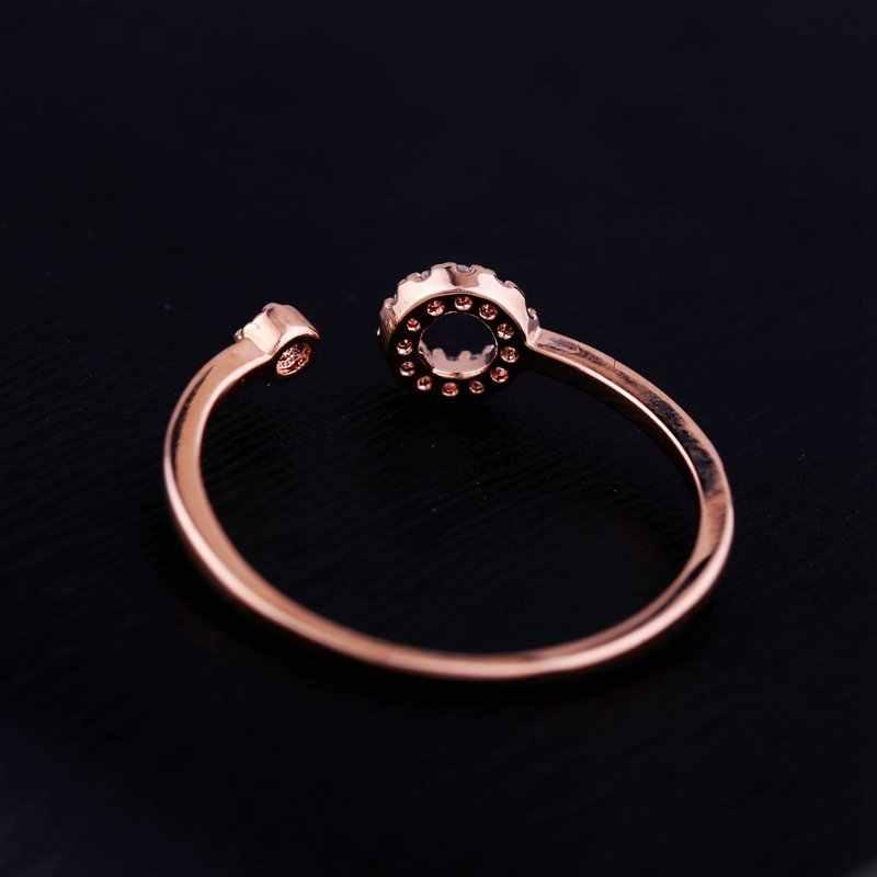 MIGGA délicat cercle rond cubique Zircon anneau couleur or Rose mode femmes filles Bague cadeau bijoux