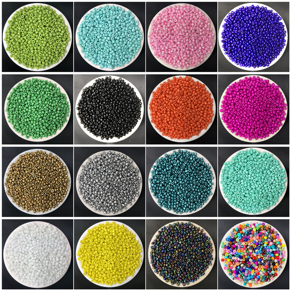 500pcs 3mm Charm Czech Glass Seed Spacer Beads DIY Bracelet Necklace Jewelry Making Accessories(China)