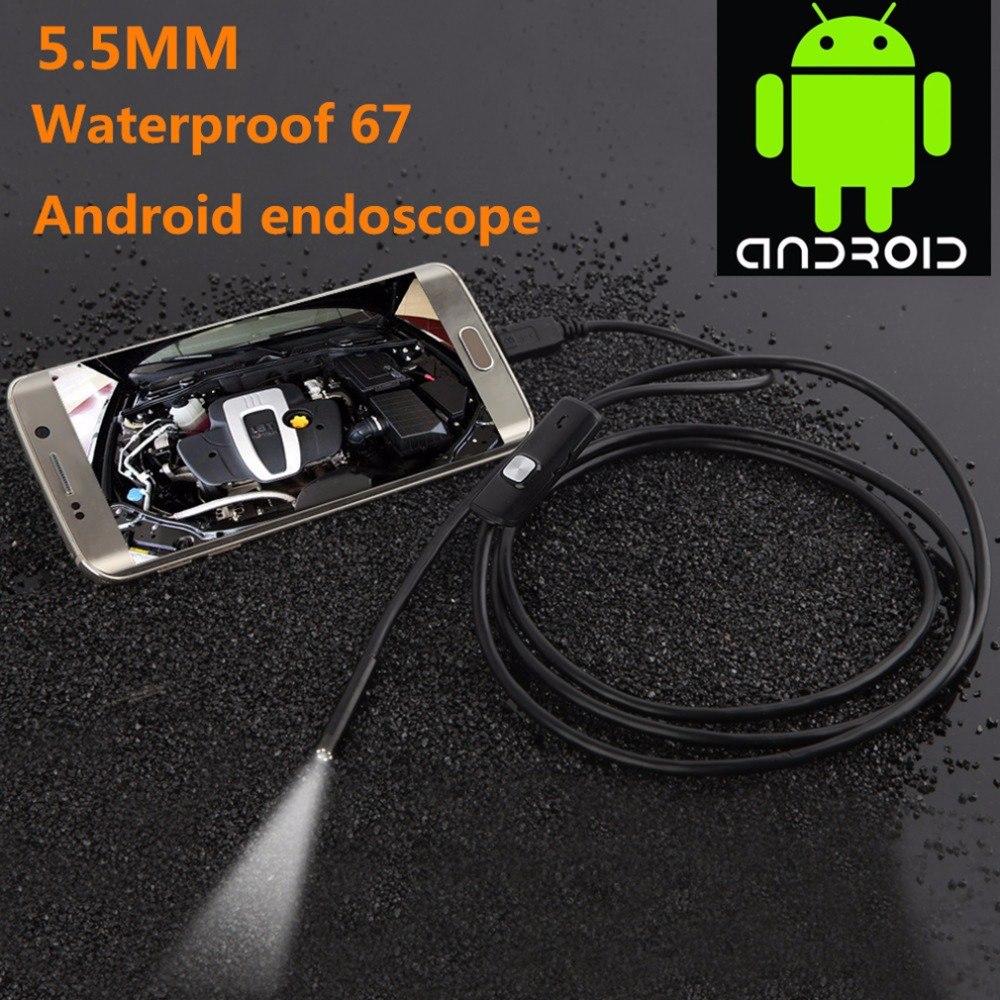 Endoscoop Caméra 720 p HD USB Endoscoop Rencontré 6 LED 1/1. 5/2/3.5/5 m Zachte Kabel Waterdichte Inspectie Endoscope Voor Android PC